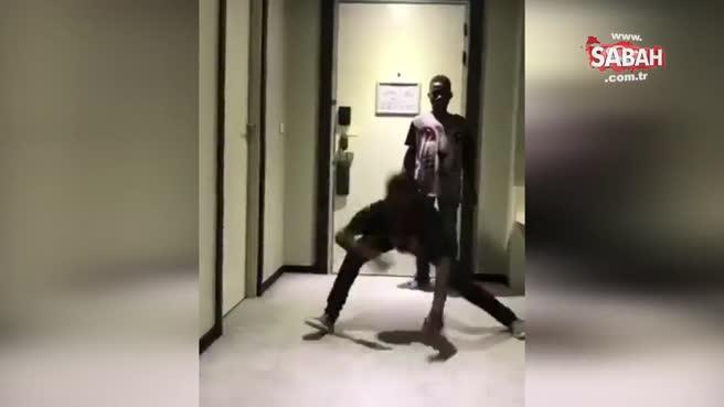 Dans eden çocuktan çığlık attıran hareket!