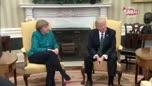 Merkel, Trump görüşmesine damga vuran anlar