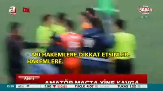 Sivas'ta amatör maçta ortalık karıştı