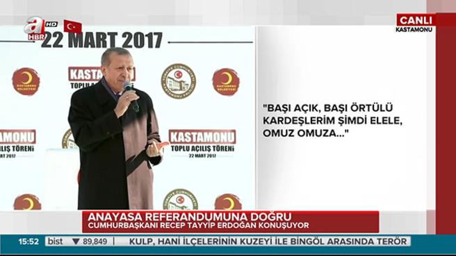 """Cumhurbaşkanı Erdoğan """"17 Nisan'da bu zihniyetin bu bedavacılığın devri kapanıyor"""""""