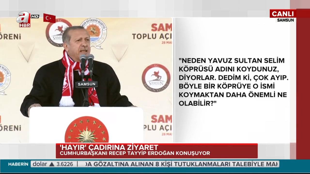 """Cumhurbaşkanı Erdoğan """"Bu sabah 'hayır' çadırını ziyaret ettim ve konuştum"""""""