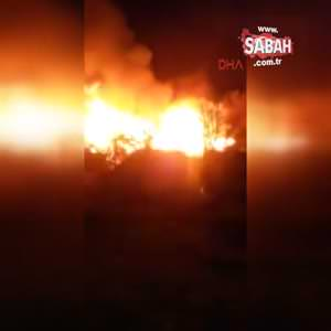 Çorum' da köy yangını; 50 ev yandı