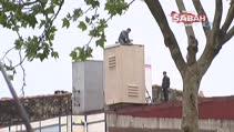 Beyoğlu'nda işçilerin ölümle dansı kamerada