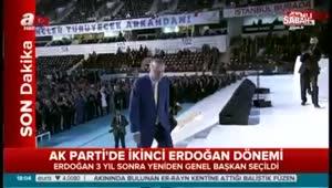 Cumhurbaşkanı Erdoğan resmen yeniden AK Parti Genel Başkanı