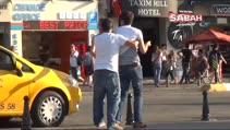 Taksim'de uyuşturucu kullanan gençlerin üzücü görüntüsü