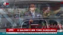 Almanya'da saldırıyı bir Türk durdurdu