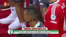 Atiker Konyaspor kupayı böyle kaldırdı