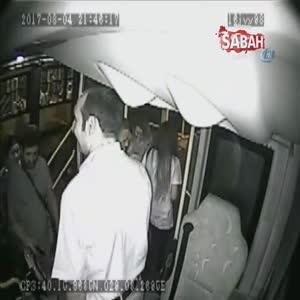 Otobüste saniye saniye yankesicilik kamerada