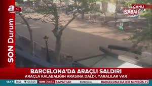 İspanya'da terör saldırısı! Minibüs kalabalığın arasına daldı!